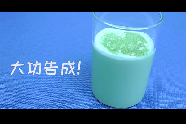 网红饮品抹茶椰奶