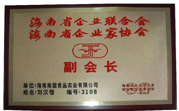 海南省企业联合会、海南省企业家协会(副会长)