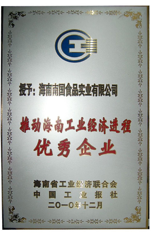 推动海南工业经济进程优秀企业