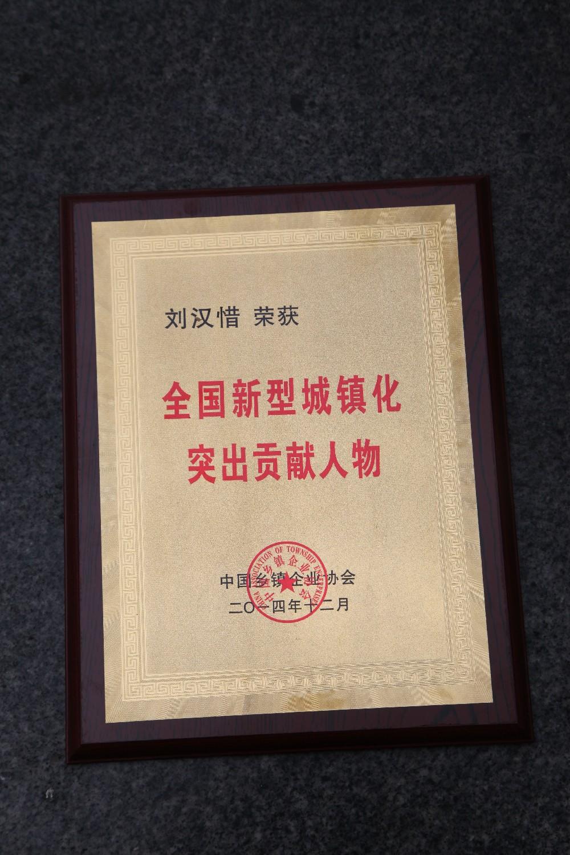 全国新型城镇化突出贡献人物——刘汉惜