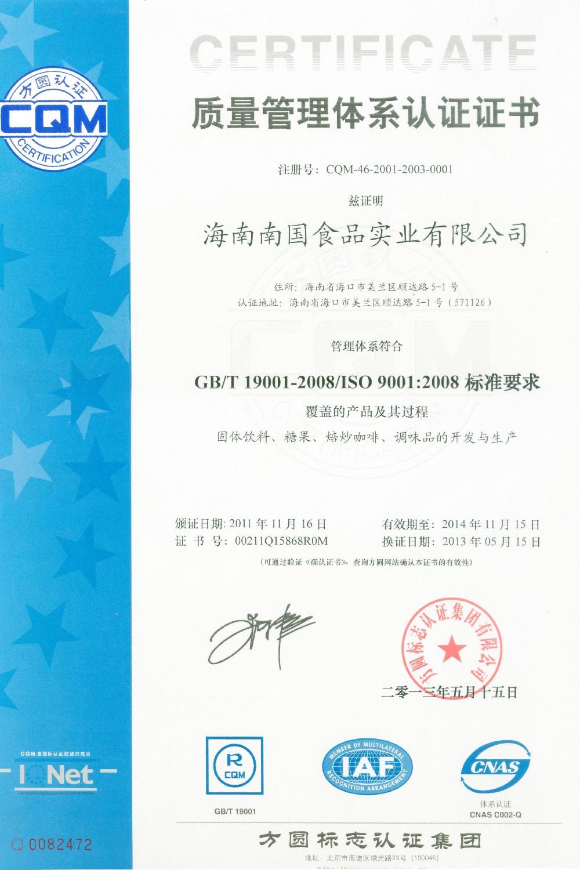 GB/T 19001-2008/ISO 9001:2008标准要求